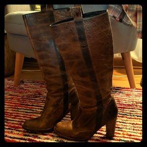 Frye knee high villager boots